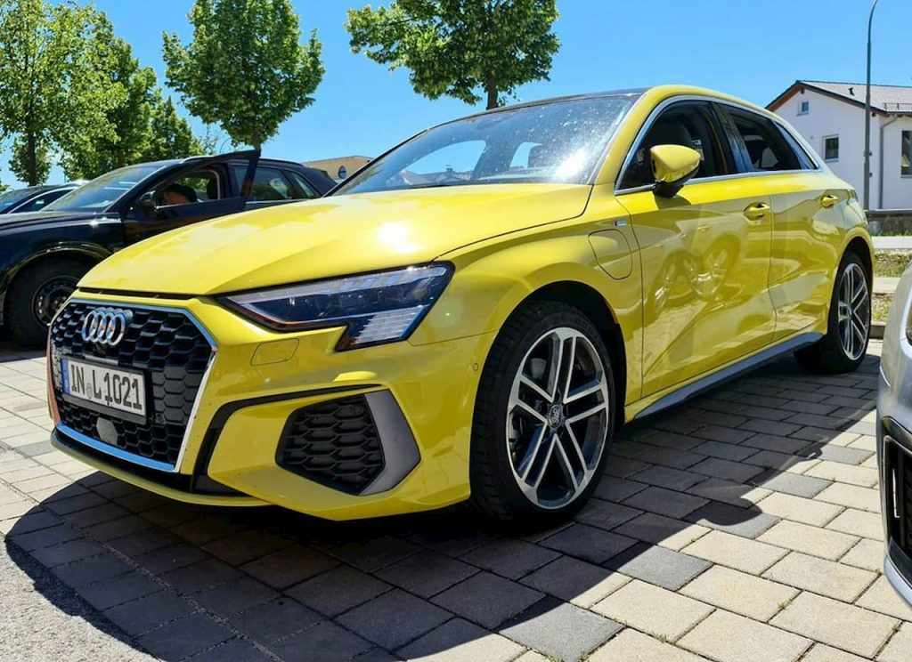 2021 Audi A3 PHEV plug-in hybrid front live image