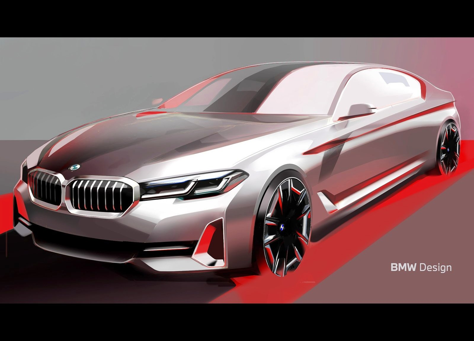 2021 BMW 5 Series sketch