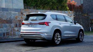 2021 Hyundai Santa Fe rear three quarter