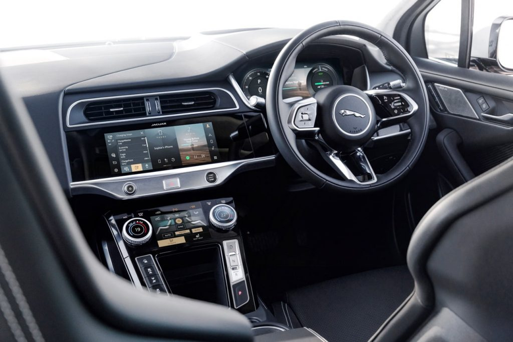 2021 Jaguar I-PACE dashboard