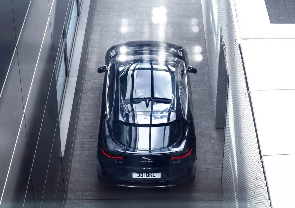 2021 Jaguar I-PACE top view