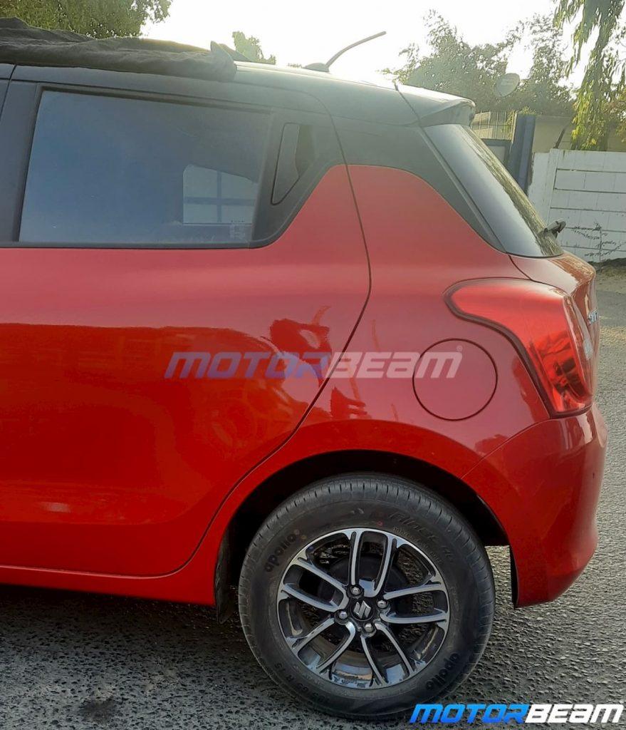 2021 Maruti Swift facelift dual tone colour spy shot