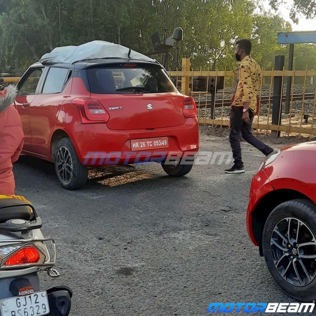 2021 Maruti Swift facelift rear spy shot
