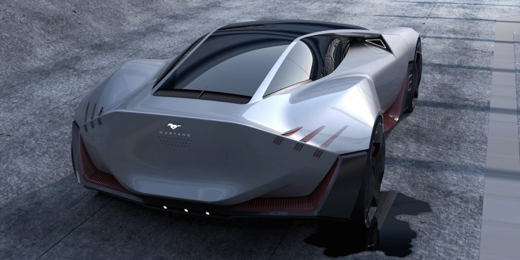 2030 Ford Mustang electric coupe design rear