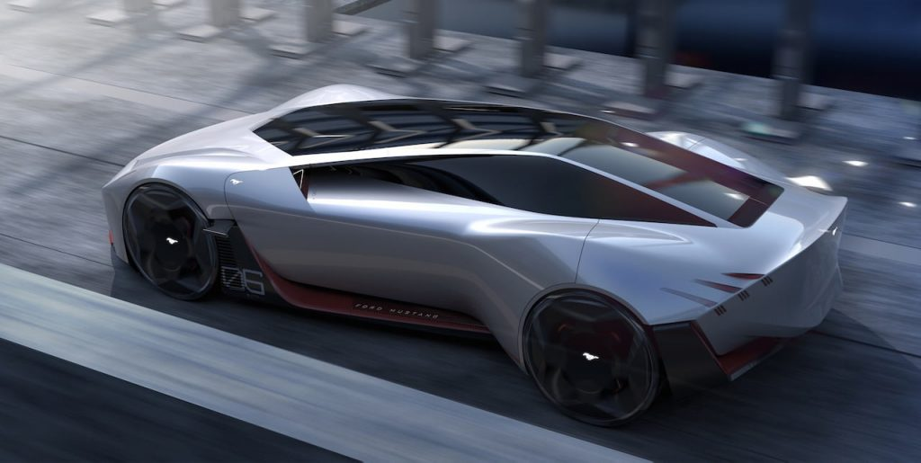 2030 Ford Mustang electric coupe design top