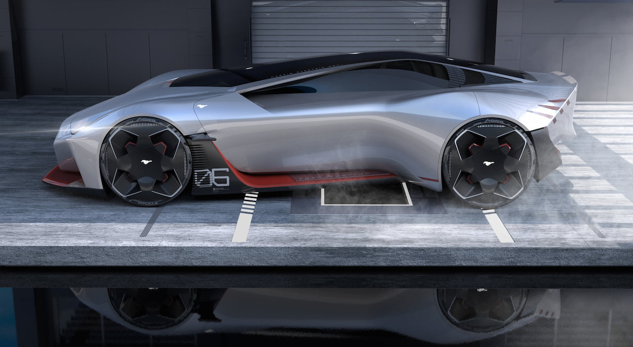 2030 Ford Mustang electric coupe design