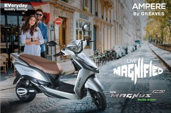 Ampere Electric launches Magnus Pro Electric Scooter at Rs 73,990