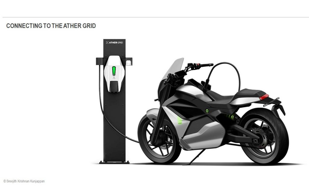 Ather Cruiser Motorcycle Concept Grid charger