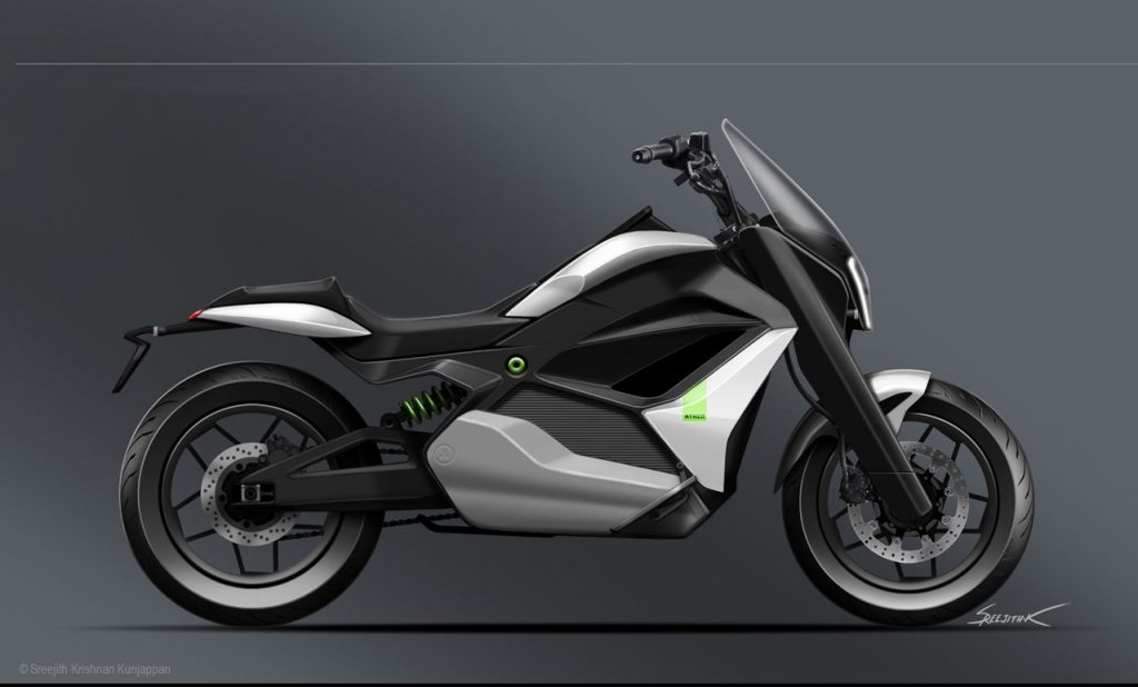 Ather Cruiser Motorcycle Concept side view