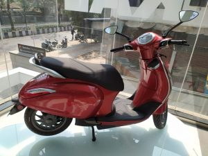 Bajaj Chetak Red side