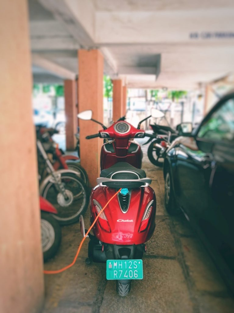 Bajaj Chetak electric scooter charging initial ownership review from Pune