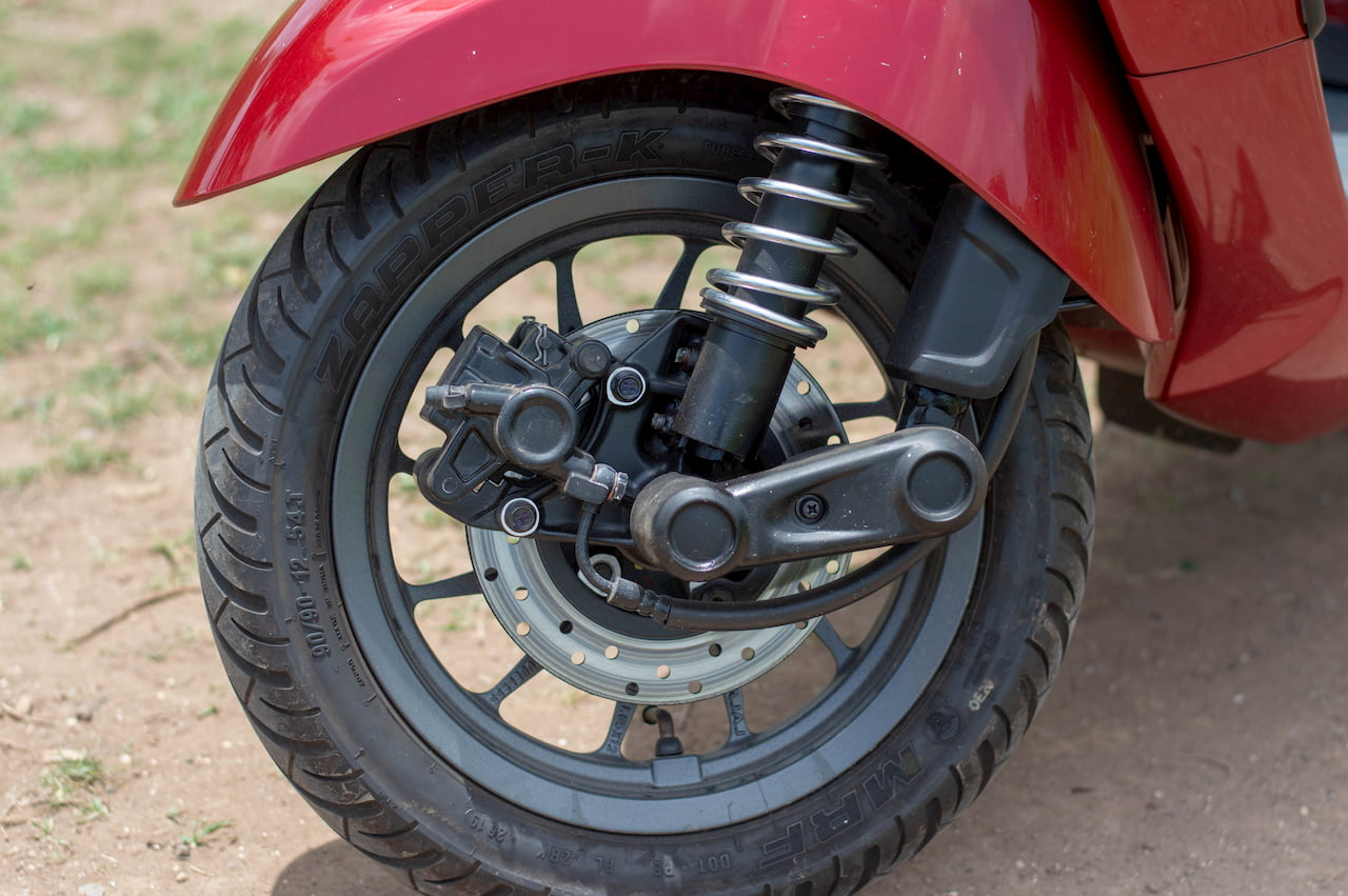 Bajaj Chetak electric scooter front suspension initial ownership review from Pune