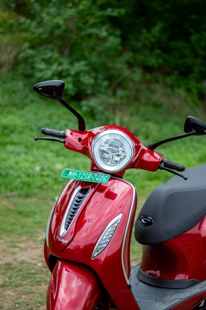 Bajaj Chetak electric scooter headlight DRL initial ownership review from Pune