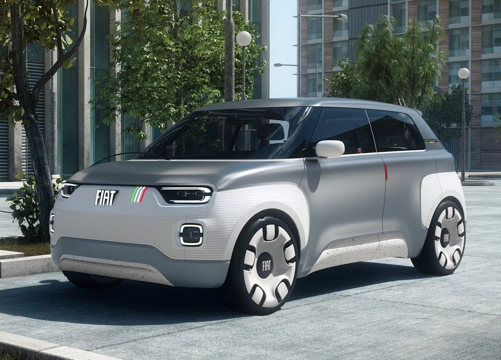 Fiat Centoventi Concept front three quarter view