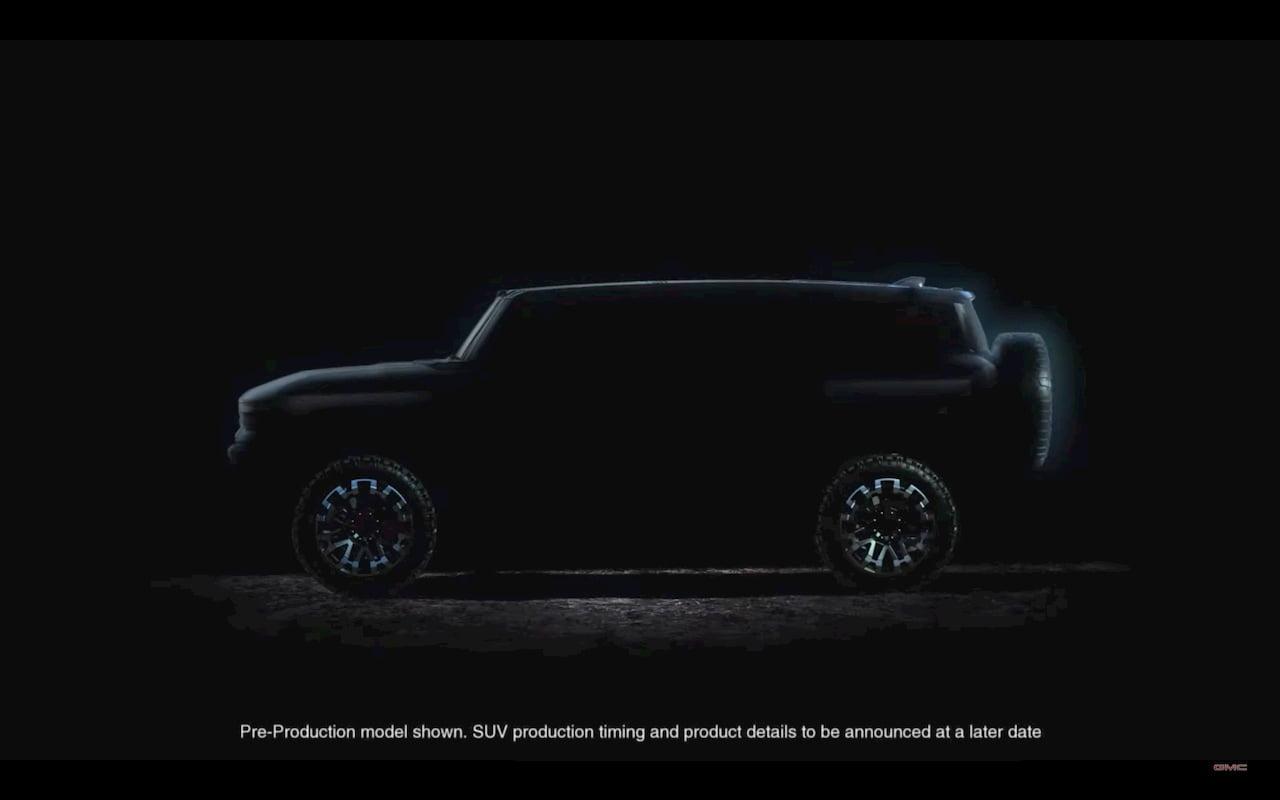 GMC Hummer SUV 2022 electric side teaser