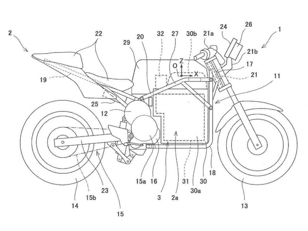 Kawasaki electric bike patent
