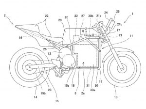 Kawasaki electric bike patent