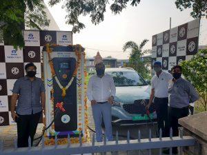 MG-Tata Power EV charging station Superfast Nagpur