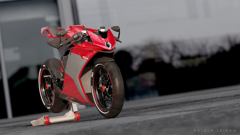 MV Agusta FE Electric red front view