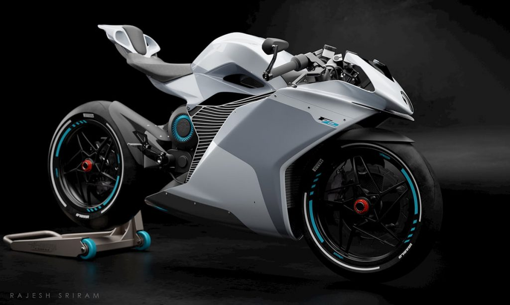 MV Agusta FE Electric white front view
