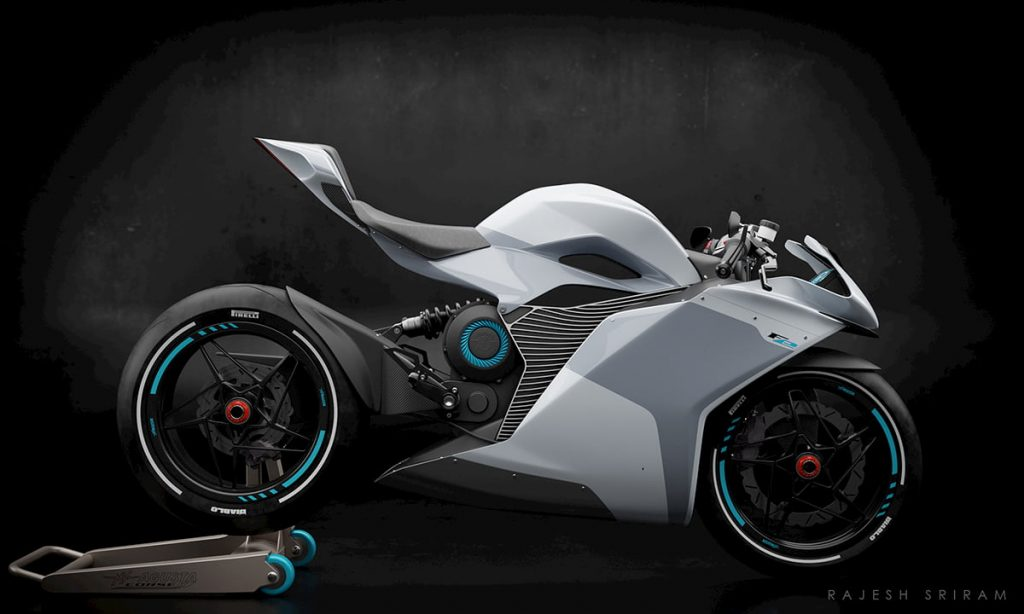 MV Agusta FE Electric white side view