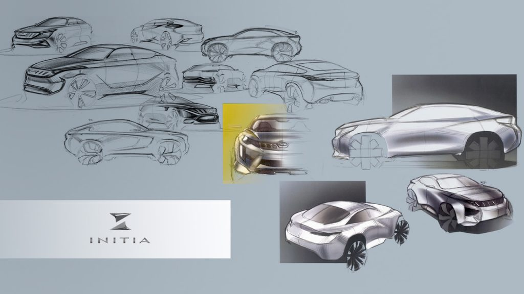 Mahindra XUV300 Coupe design concept by INITIA Designs sketches