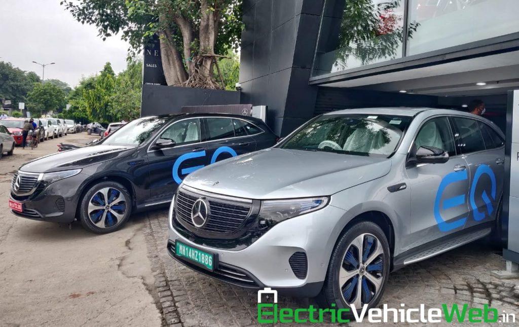 Mercedes EQC India showroom