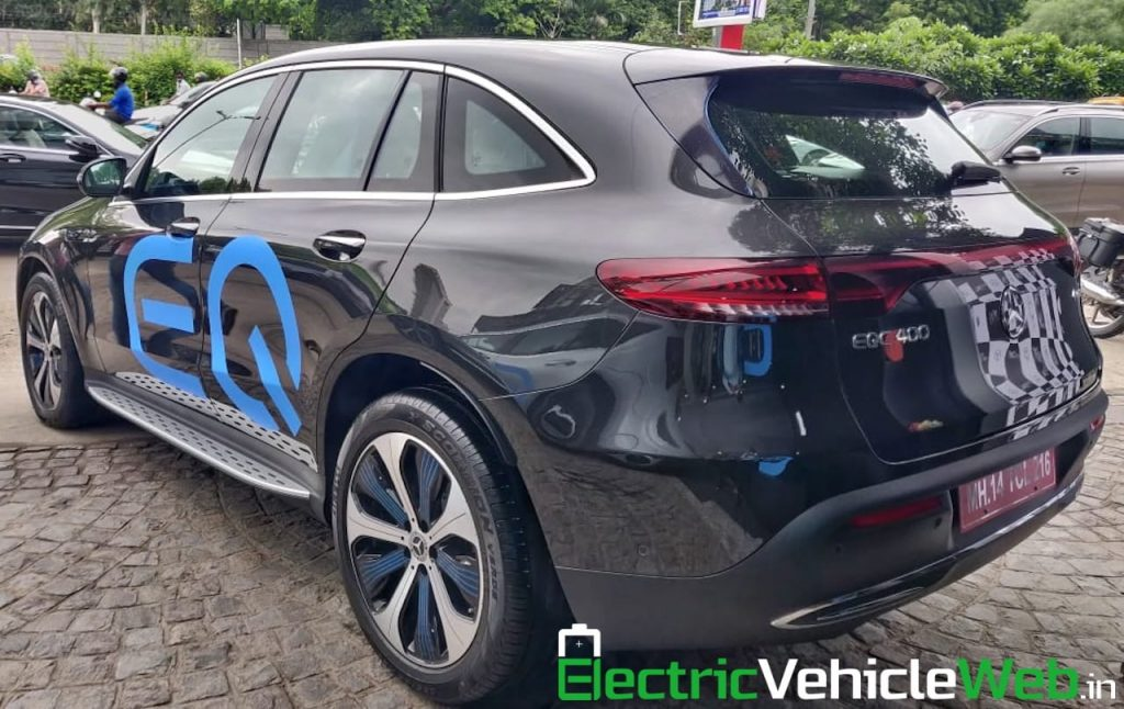 Mercedes EQC black rear quarters India