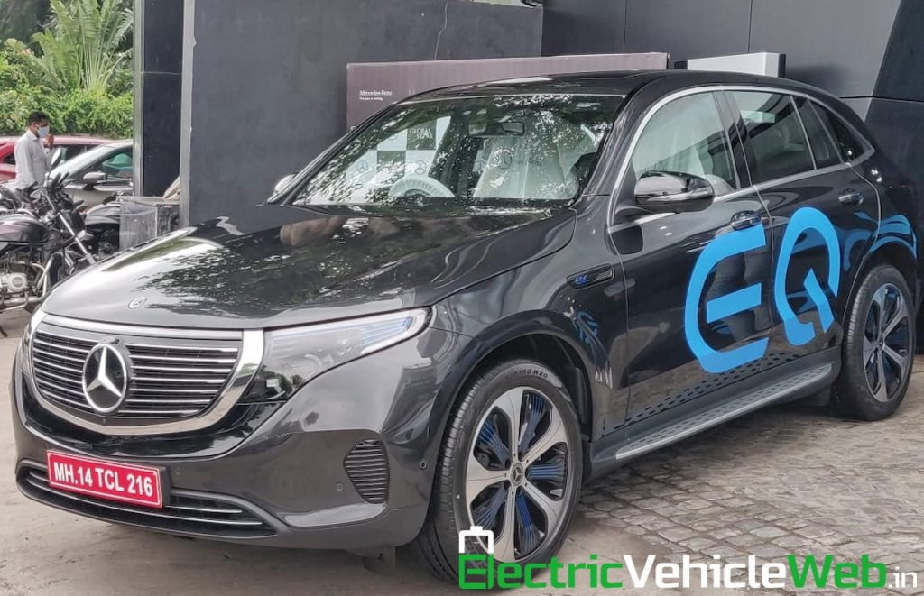 Mercedes EQC front three quarters India