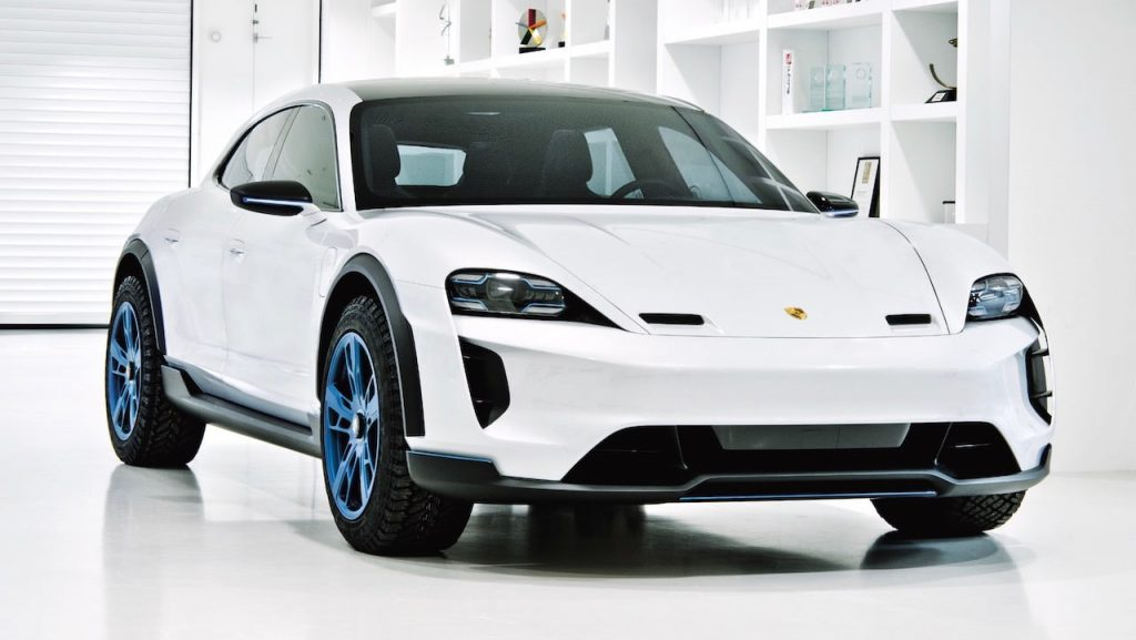 Porsche Mission E Cross Turismo front quarters