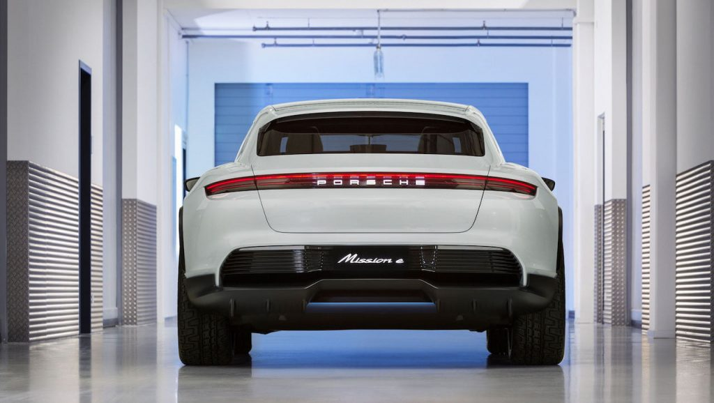 Porsche Mission E Cross Turismo rear quarters