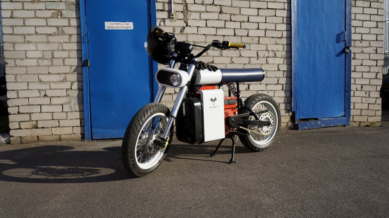 Punch Motorcycles electric bike front