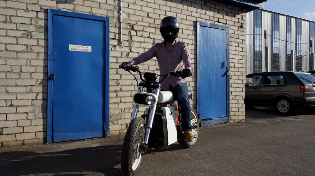 Punch Motorcycles electric bike rider