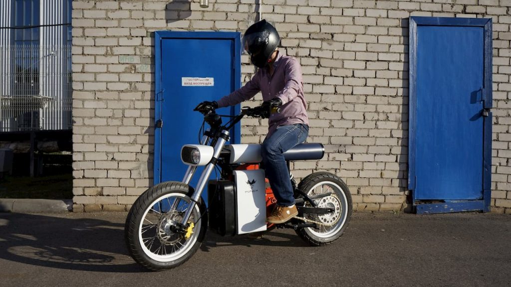 Punch Motorcycles electric bike riding and stance