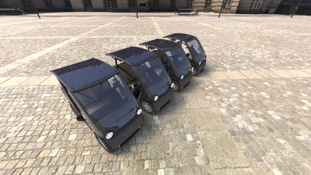 Squad Solar City Car MaaS big