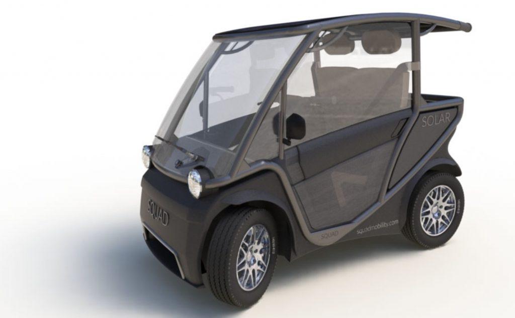 Squad Solar City Car doors