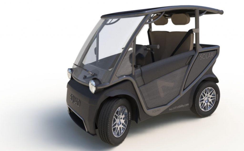 Squad Solar City Car half doors