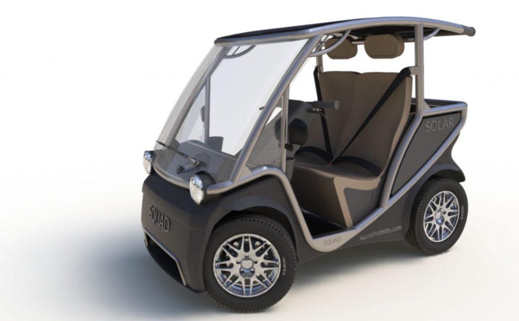 Squad Solar City Car no doors