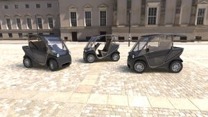 Squad Solar City Cars on Italian square doors