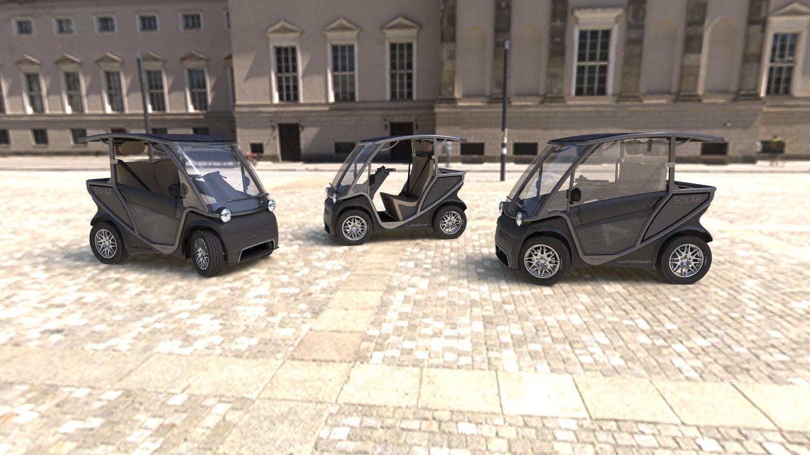Squad Solar City Cars on Italian square doors
