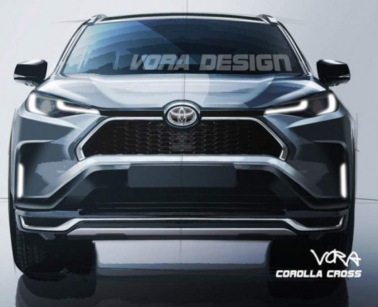 Toyota Corolla Cross front look render
