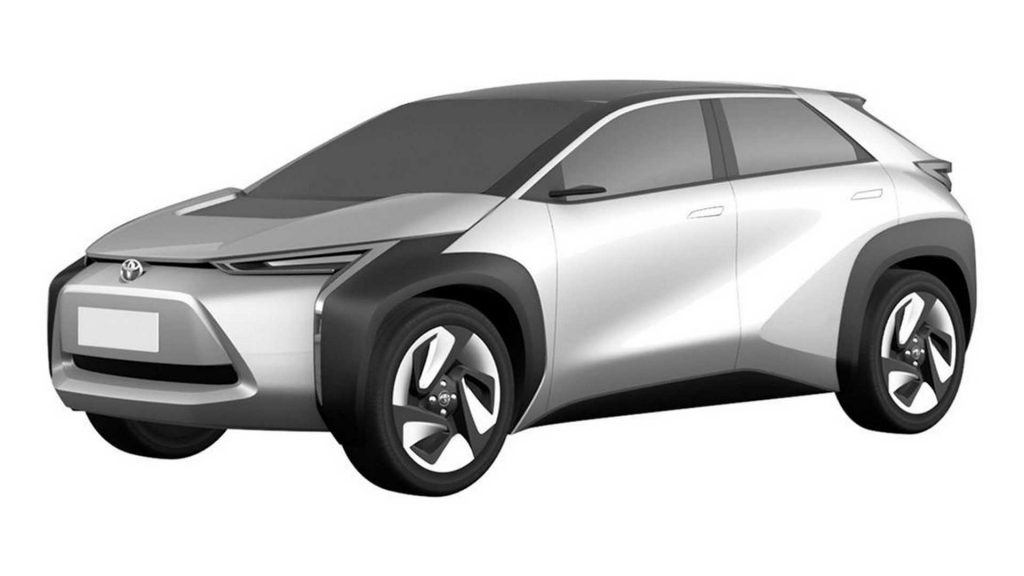 Toyota compact SUV patent image front quarter view