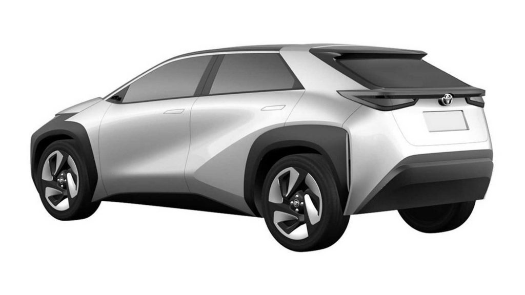 Toyota compact SUV patent image rear quarter view