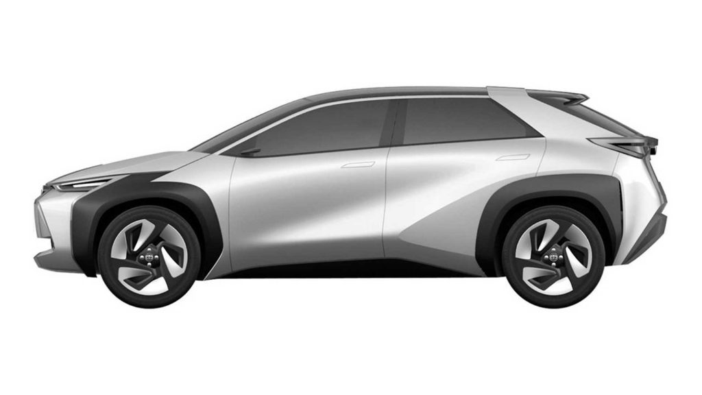Toyota compact SUV patent image side view