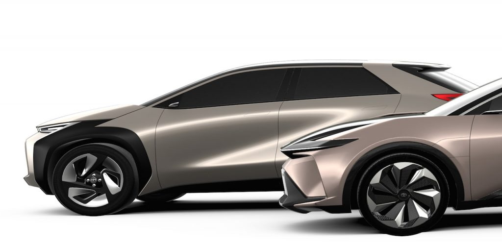Toyota compact electric vehicle concept side