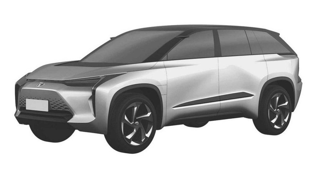 Toyota medium SUV patent image front quarter view
