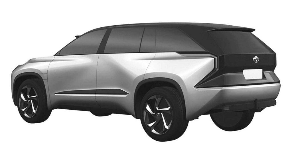Toyota medium SUV patent image rear quarter view