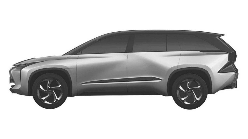 Toyota medium SUV patent image side view