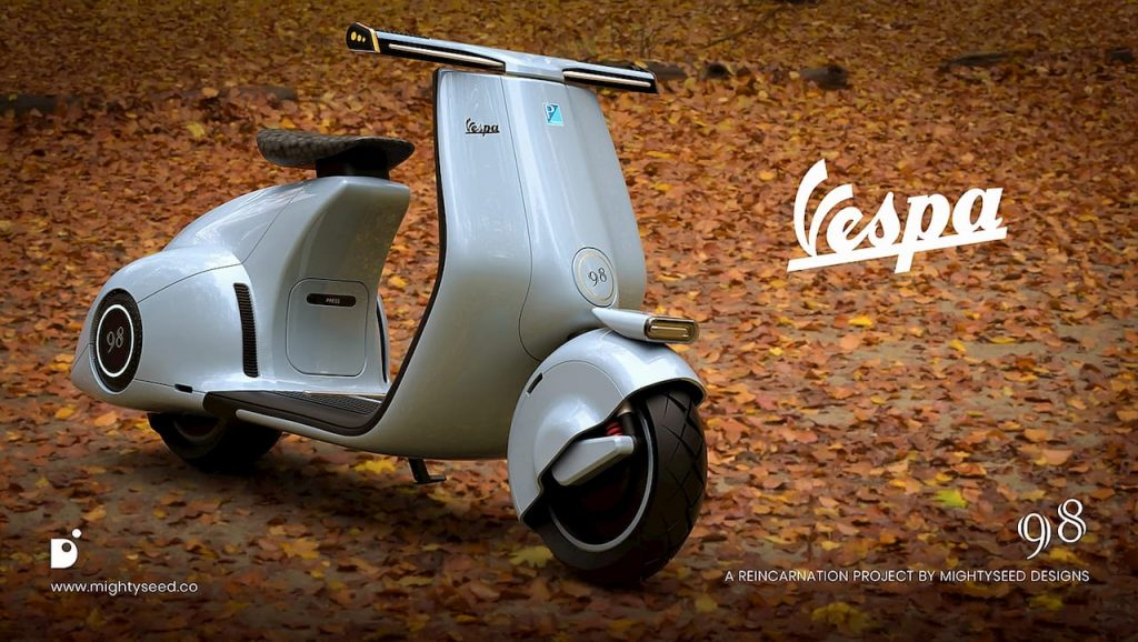 Vespa electric concept by Mightyseed front