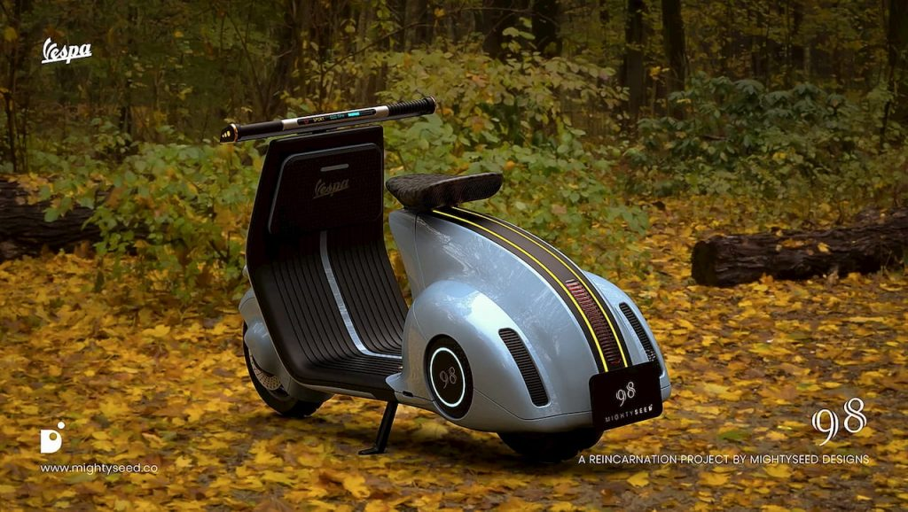Vespa electric concept by Mightyseed rear